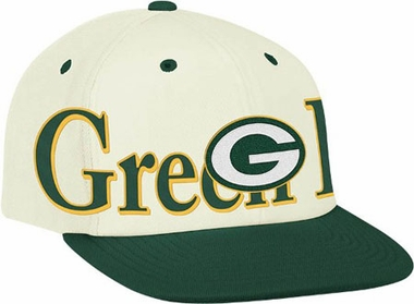 Green Bay Packers Team Name and Logo Snapback Hat