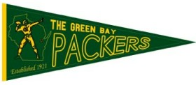 Green Bay Packers Throwback Wool Pennant