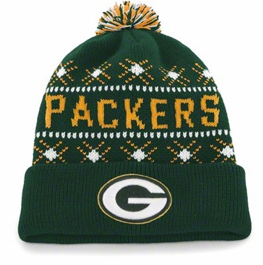 Green Bay Packers Tip Off Cuffed Knit Hat