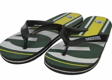 Green Bay Packers Unisex Big Logo Flip Flops