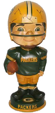 Green Bay Packers Vintage Retro Bobble Head