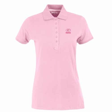 Green Bay Packers Womens Spark Polo (Color: Pink)