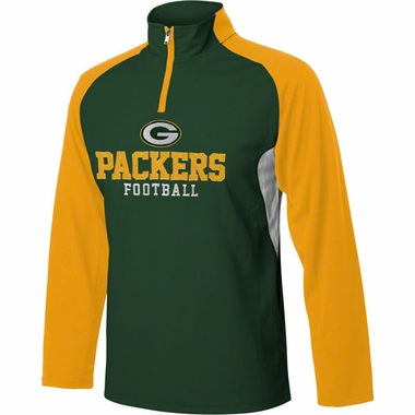 Green Bay Packers YOUTH 1/4 Zip Lightweight Pullover Jacket