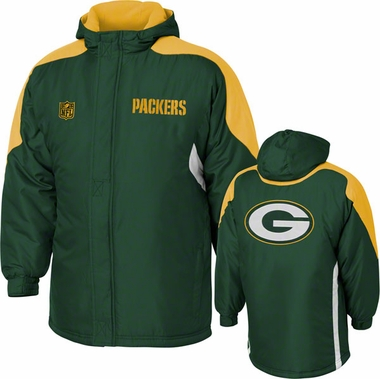 Green Bay Packers YOUTH Field Goal Midweight Full Zip Hooded Jacket