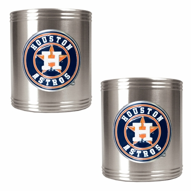 Houston Astros 2 Can Holder Set