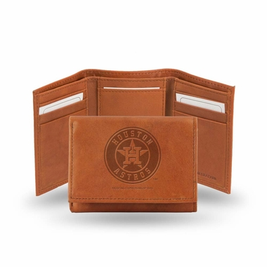 Houston Astros Embossed Leather Trifold Wallet