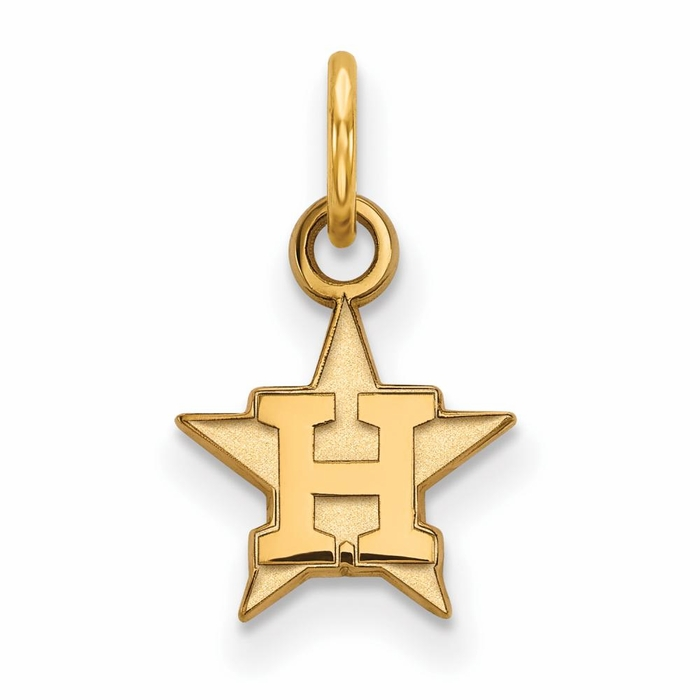 Houston Astros Extra Small 3 8 Inch Pendant Gold Plated