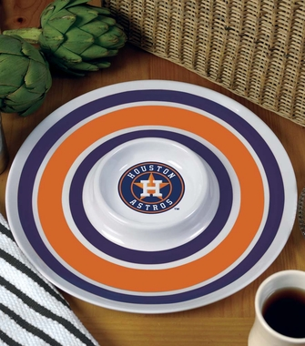 Houston Astros Plastic Chip and Dip Plate