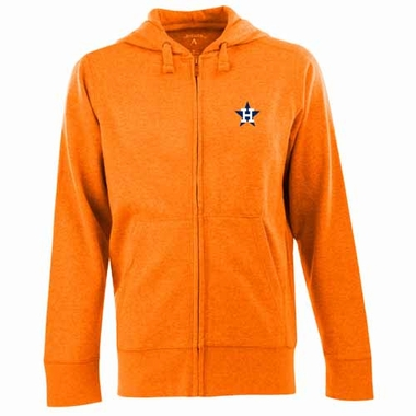 Houston Astros Mens Signature Full Zip Hooded Sweatshirt (Cooperstown) (Color: Orange)