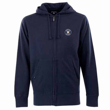 Houston Astros Mens Signature Full Zip Hooded Sweatshirt (Color: Navy)