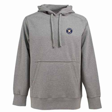 Houston Astros Mens Signature Hooded Sweatshirt (Color: Silver)