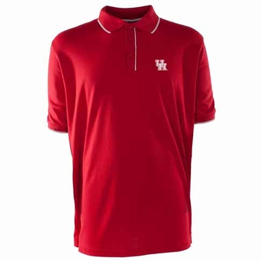 Houston Mens Elite Polo Shirt (Color: Red)