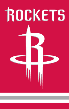 Houston Rockets Applique Banner Flag