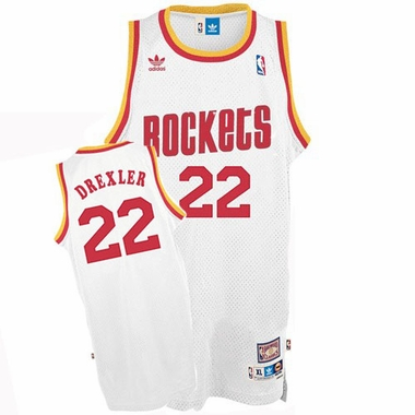 Houston Rockets Clyde Drexler Adidas Team Color Throwback Replica Premiere Jersey