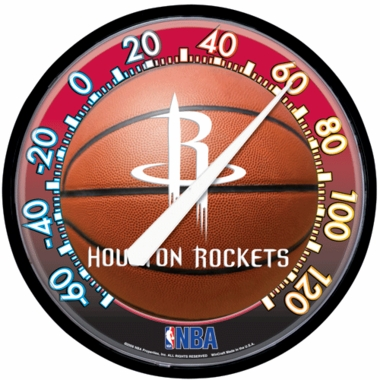 Houston Rockets Round Wall Thermometer