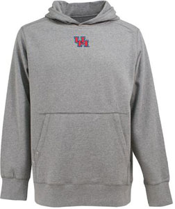 Houston Mens Signature Hooded Sweatshirt (Color: Silver) - XX-Large