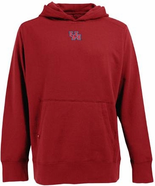 Houston Mens Signature Hooded Sweatshirt (Color: Red)