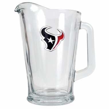 Houston Texans 60 oz Glass Pitcher