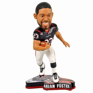 Houston Texans Arian Foster 2013 Pennant Base Bobblehead Figurine