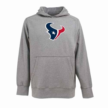 Houston Texans Mens Big Logo Signature Hooded Sweatshirt (Color: Silver)