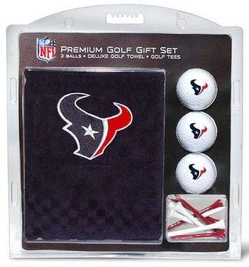 Houston Texans Embroidered Towel Golf Gift Set