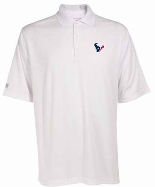 Houston Texans Mens Exceed Polo (Color: White)