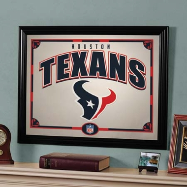 Houston Texans Framed Mirror