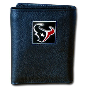 Houston Texans Leather Trifold Wallet (F)