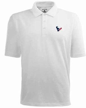 Houston Texans Mens Pique Xtra Lite Polo Shirt (Color: White)