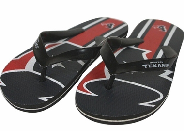 Houston Texans Unisex Big Logo Flip Flops