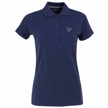 Houston Texans Womens Spark Polo (Color: Navy)