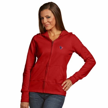 Houston Texans Womens Zip Front Hoody Sweatshirt (Color: Red)