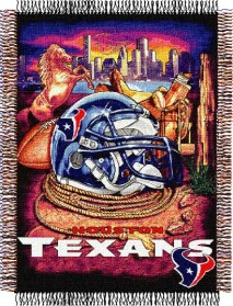 Houston Texans Woven Tapestry Throw Blanket
