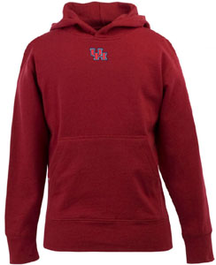 Houston YOUTH Boys Signature Hooded Sweatshirt (Color: Red) - Large