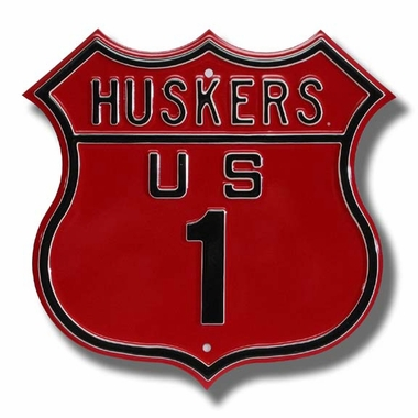 Huskers / 1 Route Sign