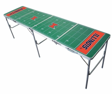 Illinois 2x8 Tailgate Table