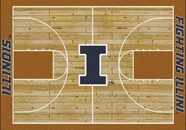 "Illinois 7'8"" x 10'9"" Premium Court Rug"