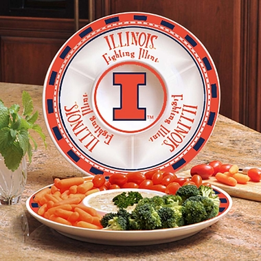 Illinois Ceramic Chip and Dip Plate