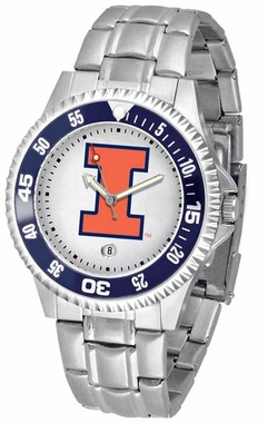 Illinois Competitor Steel Band Mens Watch