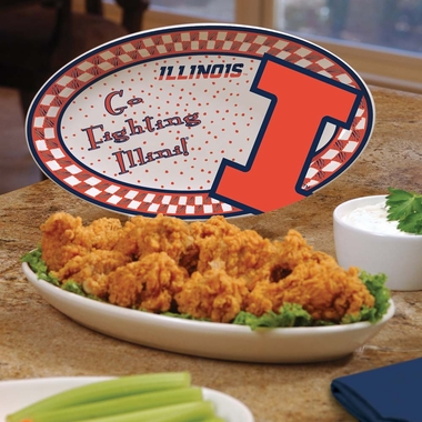Illinois Gameday Ceramic Platter