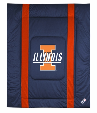 Illinois SIDELINES Jersey Material Comforter