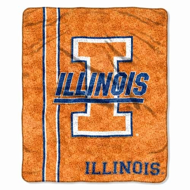 Illinois Super-Soft Sherpa Blanket