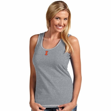 Illinois Womens Sport Tank Top (Color: Gray)