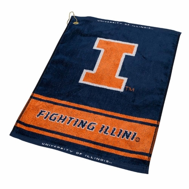 Illinois Woven Golf Towel