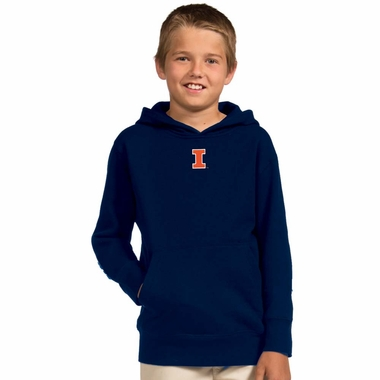 Illinois YOUTH Boys Signature Hooded Sweatshirt (Color: Royal)