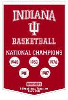 "Indiana 24""x36"" Dynasty Wool Banner"