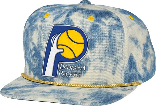 Indiana Pacers Mitchell   Ness Blue Acid Wash Denim Snap Back Hat 118b7693175