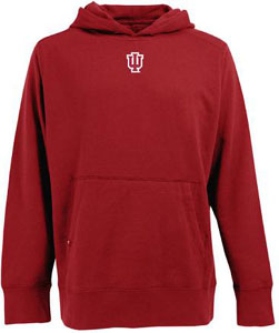 Indiana Mens Signature Hooded Sweatshirt (Color: Red) - Small