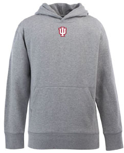 Indiana YOUTH Boys Signature Hooded Sweatshirt (Color: Gray) - Large