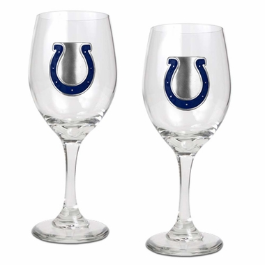 Indianapolis Colts 2 Piece Wine Glass Set